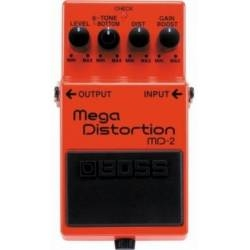 Boss MD 2 Mega Distortion Pedal with Gain Boost Circuit