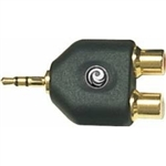 Planet Waves 1/8 Inch Stereo Male to Twin RCA Female Adapter
