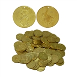 Brass Coins, Large, 35mm, 100 count