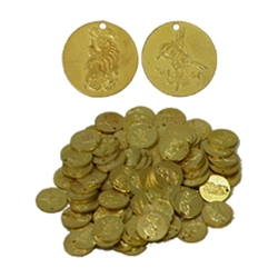 Brass Coins, Small, 20mm, 100 count