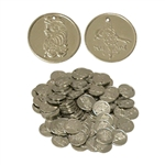 Nickled Brass Coins, Medium, 25mm,100 Ct