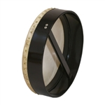 "Bodhran, 14""x3.5"", Fixed, Black, Single"