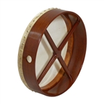 "Bodhran, 14""x3.5"", Fixed, Rosewd, Cross"