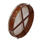 "Bodhran, 18""x3.5"", Tune, Rosewd, Cross"