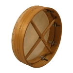 "Bodhran, 14""x3.5"", Tune, Mulberry, Cross"