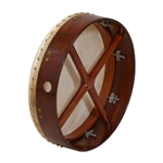 "Bodhran, 14""x3.5"", Tune, Rosewood, Cross"