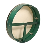 "Bodhran, 16""x3.5"", Tune, Green, T-Bar"
