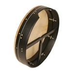 "Bodhran, 18""x3.5"", Tune, Black, T-Bar"