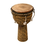 "Djembe, 12""x22"",  Rosewood, Bolt, Hewn"