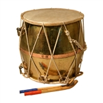 Gharwali Tribal Dhol, Copper, w/ Beaters