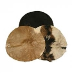 "Goatskin, 18"" with Hair, Thick"
