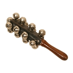 Hand Sleigh Bells on Wood