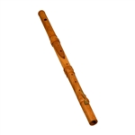 Irish Flute with Key, Satinwood