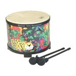 "Remo Floor Tom, 10"" x 7.5"" Rain Forest"