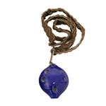Ocarina, Necklace, Soprano, D5 Blue