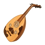 Oud, Egyptian, Light Rosewood, Gig Bag