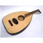 Oud, Round Flatback, Natural, Soft Case