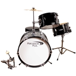 3 Pc Junior Drum Set - Black