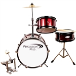 3 Pc Mini Drum Set - Wine Red