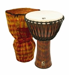 "TOCA Cannon Rope Tuned 14"" Djembe, Lava"