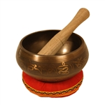"Singing Bowl, Decorated, 4 3/4"" x 2 1/2"""