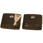 Sitar Hard Case Latches (2) Black