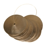Nickeled Brass Jingles, 10 Count