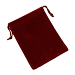 Velvet Bag with draw string, Burgundy