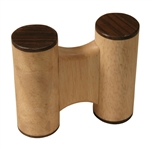 Double Round Whitewood Shaker Set, Large