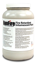 BanFire Intumescent Fire Retardant Paint (ASTM E84) - 1 Gallon