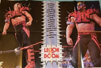 ROAD WARRIOR ANIMAL signed vintage 8-page pullout poster