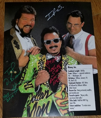 MONEY INC signed poster!! TED DIBIASE, I.R.S. & JIMMY HART