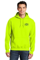 Hi-Vis Hooded Sweatshirt - Safety Green