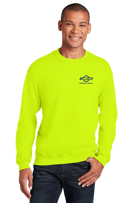Hi-Vis Crew Sweatshirt - Safety Green