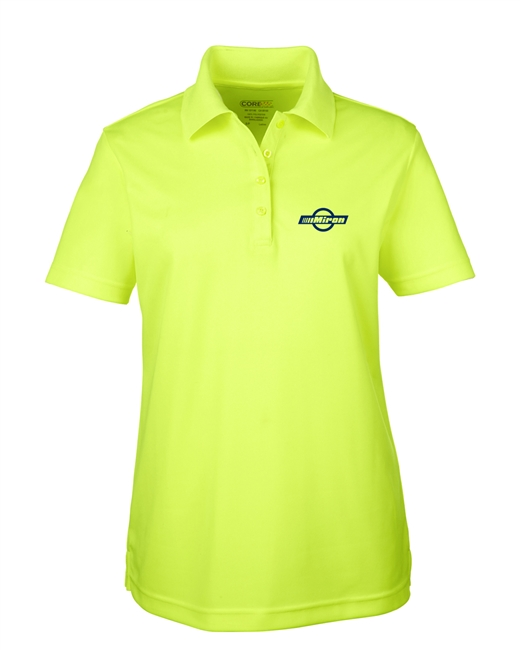 Ladies Performance Hi Vis Polo - Safety Green