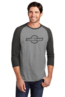 District  - Mens 3/4 Sleeve Raglan Tee