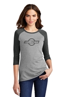 District  - Ladies 3/4 Sleeve Raglan Tee
