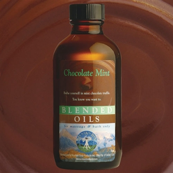 Mountain Body Products | Chocolate Mint Blended Massage & Bath Oil - 4 oz.