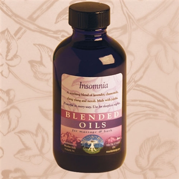 Mountain Body Products | Insomnia Blended Massage & Bath Oil - 4 oz.