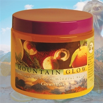 Mountain Body Products | Mountain Glow Mineral Salt Scrub - 16 oz. - Citrus Mint (natural alpha hydroxy)