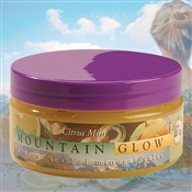 Mountain Body Products | Mountain Glow Mineral Salt Scrub - 8 oz. - Citrus Mint (natural alpha hydroxy)