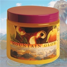 Mountain Body Products | Mountain Glow Mineral Salt Scrub - 16 oz. - Grapefruit (natural alpha hydroxy)
