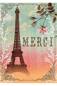 Papaya - Merci Eiffel 5x7 Card