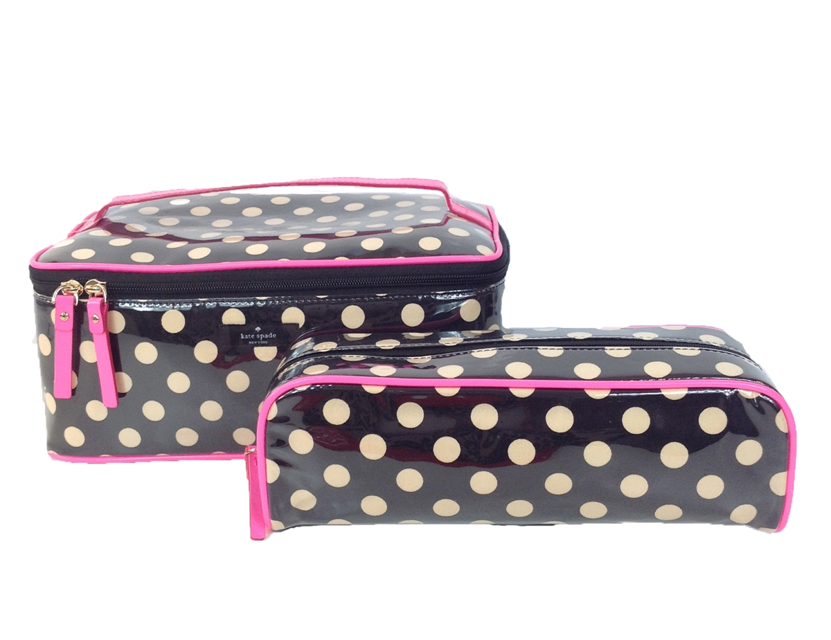 18f4b8486e7f Kate Spade Rose Avenue Large Colin 2 Pc Travel Cosmetic Cases ...