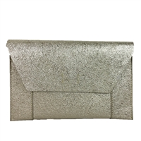 Shiraleah Fiona Metallic Vegan Leather Slim Clutch
