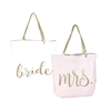 Bride to Mrs. Sparkling Script Reversible Tote
