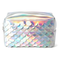 Mermaid Scales Large Zip Cosmetic Case