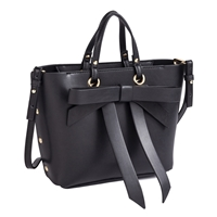 Sydney Love Vegan Leather Bow Satchel Crossbody