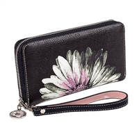 Sydney Love Daisy Print Vegan Leather Wristlet Wallet