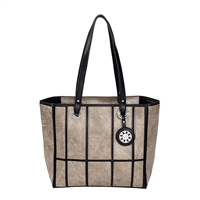 Sydney Love Vegan Leather Window Pane Tote